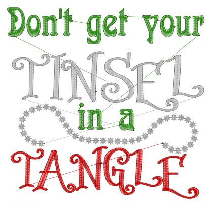 Tinsel Tangle Stitch View - Threaded Scribbles